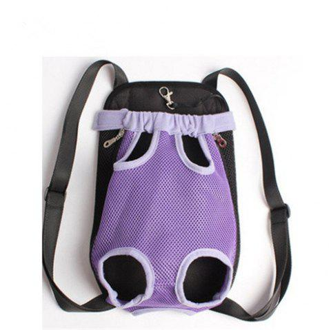 Pets Go Out Chest Backpack - PURPLE S