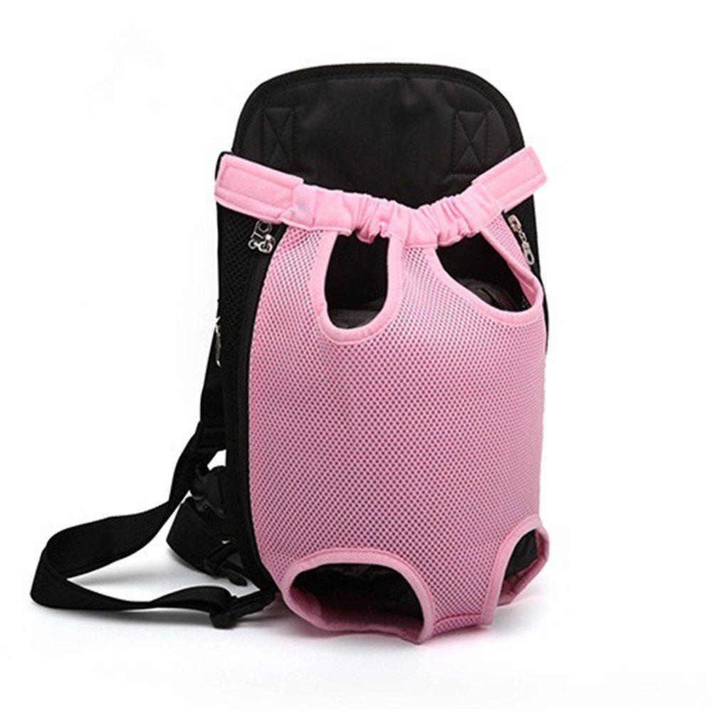 Pets Go Out Chest Backpack - PINK M