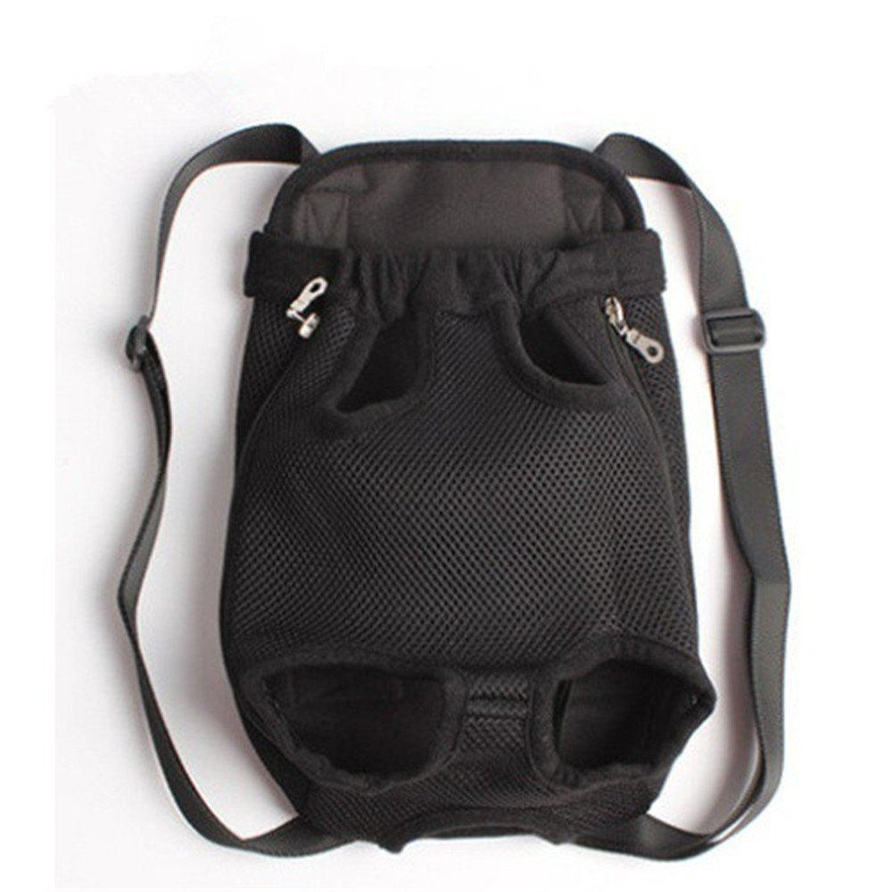 Pets Go Out Chest Backpack - BLACK M