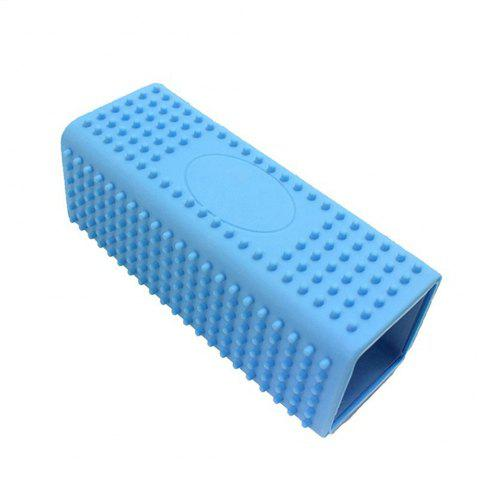 Hollow Silicone Pet Hair Removal Brush - BLUE
