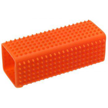 Hollow Silicone Pet Hair Removal Brush -  ORANGE