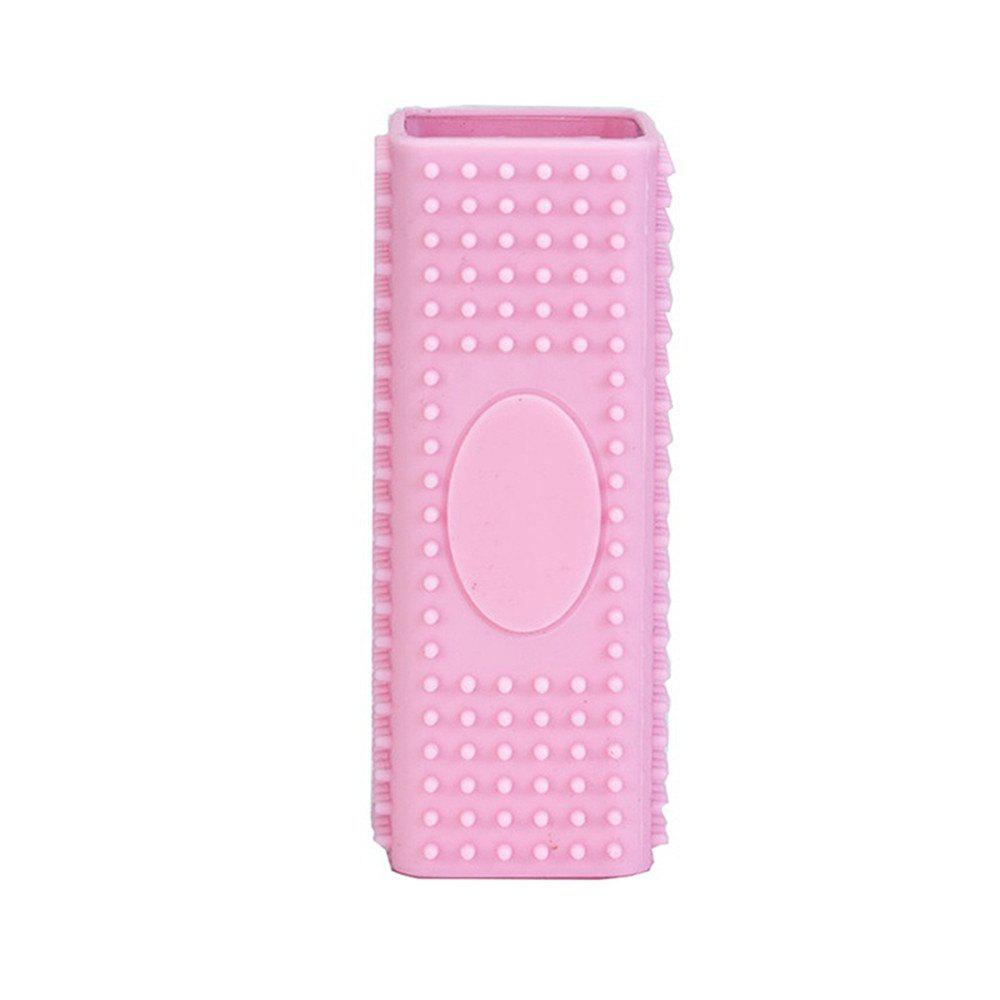 Hollow Silicone Pet Hair Removal Brush - PINK