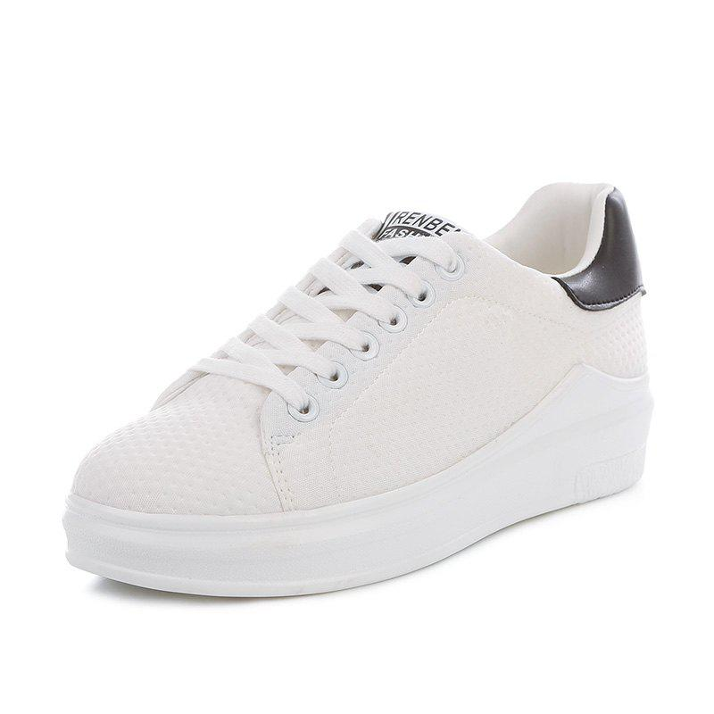 2017 Fall New Female Platform Sports Shoes - WHITE 36
