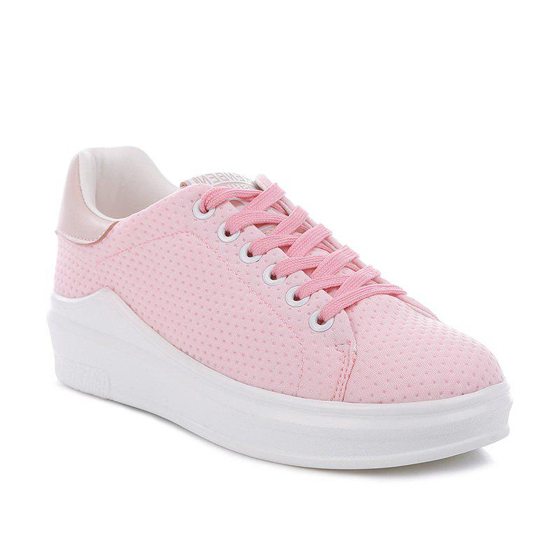 2017 Fall New Female Platform Sports Shoes - PINK 36