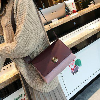 Simple Korean Version of The New Buckle Shoulder Bag Soft Shoulder Bag - BURGUNDY