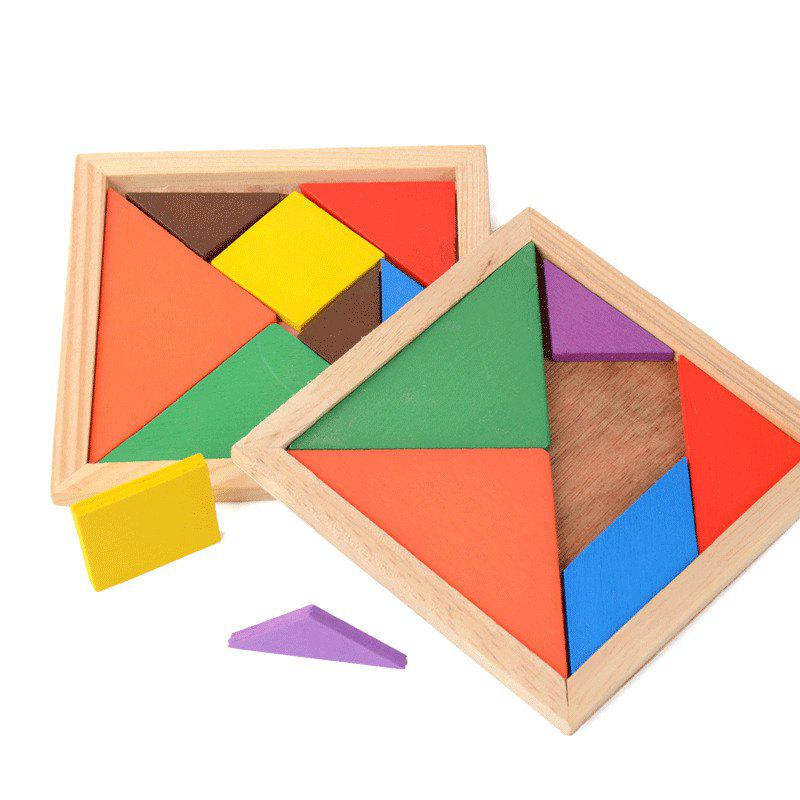 10.5CM Wooden Jigsaw Puzzle Intelligence Toy for Kids 296pcs creative building toys children educational mushroom nail peg board building frame jigsaw puzzle kids intelligence toy