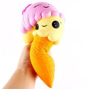 Jumbo Slow Rising Kawaii Cute Squishies Ice Cream Cone Cake Scented of Decompression Toys - COLORFUL COLORFUL