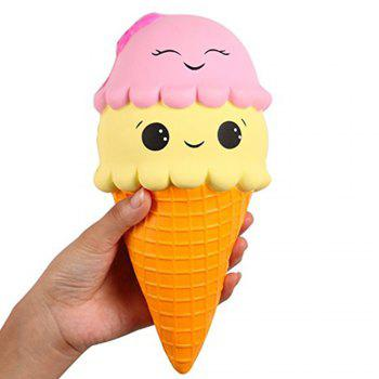 Jumbo Slow Rising Kawaii Cute Squishies Ice Cream Cone Cake Scented of Decompression Toys - COLORFUL