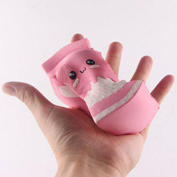 Funny Squishy Toy Made By Enviromental PU Material Replica Swiss Cake Roll for Different Age Group - PINK