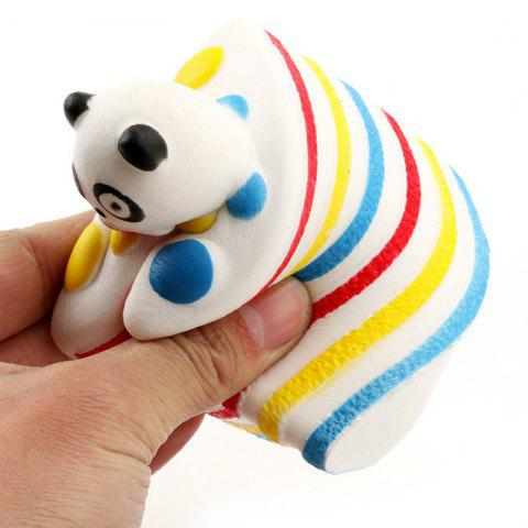 Funny Squishy Toy Made By Enviromental PU Material Replica Cartoon Rainbow Panda Sandwich for Different Age Group - COLORMIX