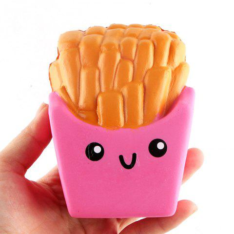 Funny Squishy Toy Made By Enviromental PU Material Replica Chips for Different Age Group - PINK