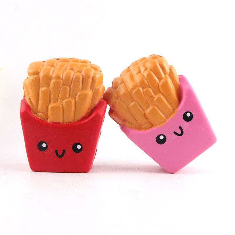 Funny Squishy Toy Made By Enviromental PU Material Replica Chips for Different Age Group - RED