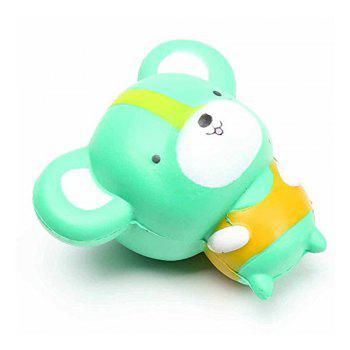Cartoon Mouse Shape Pull Stretch Squishy Keep Calm Squeeze Stress Relief Toy - GREEN GREEN