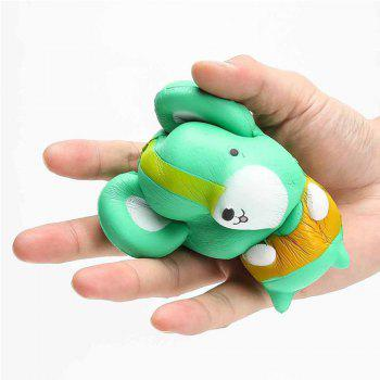 Cartoon Mouse Shape Pull Stretch Squishy Keep Calm Squeeze Stress Relief Toy - GREEN