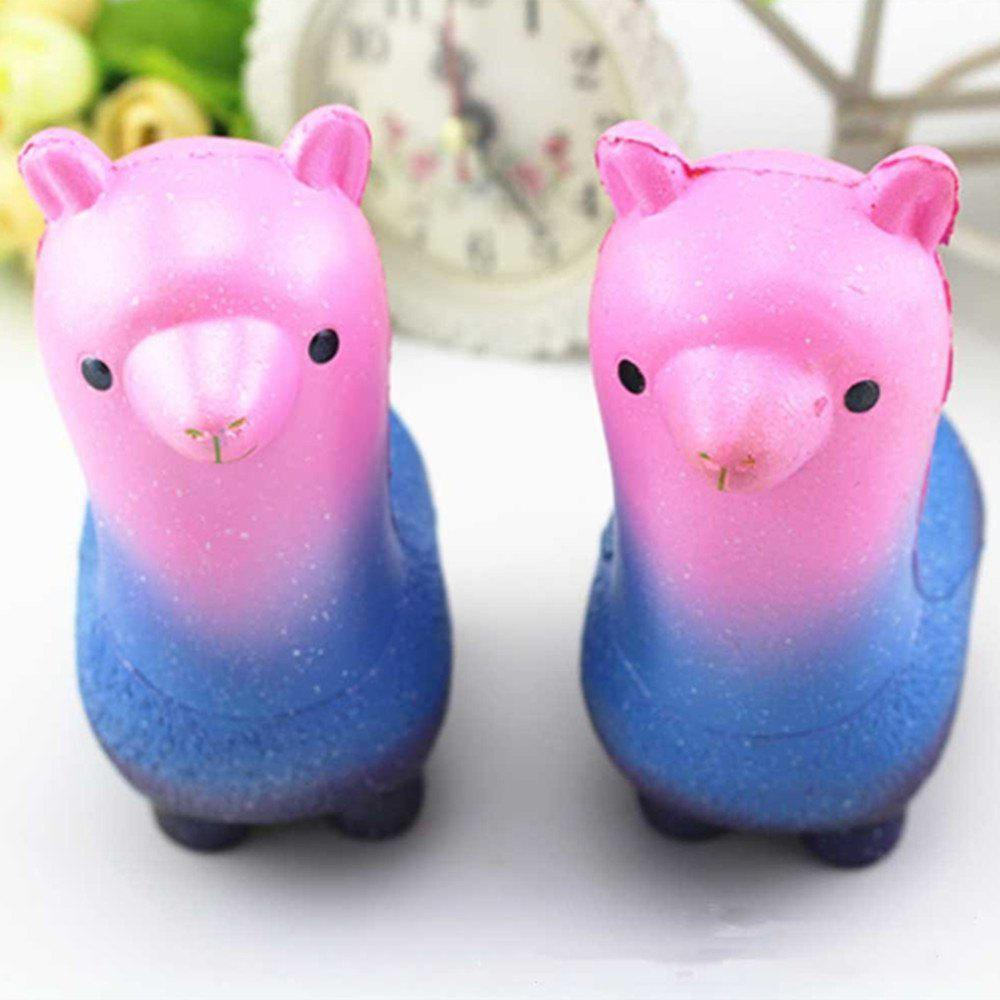 Funny Squishies Colored Alpaca Slow Rising Toys Rainbow Jumbo Cream Scented Time Killer Squeeze Kid Toy Charm Gift - COLOUR