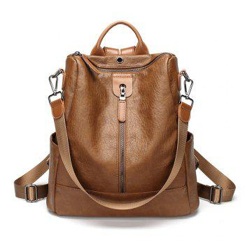 Classic Fashion Vegan Leather Backpack Casual Shoulder