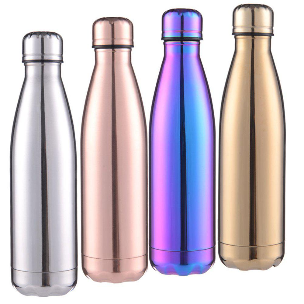 Fashion 4 Colors 500ML Stainless Steel Insulated Cup Coffee Tea Thermos Mug Thermal Bottle Thermocup Travel Drink Bottle - GOLD