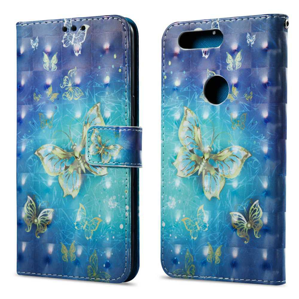 Case For One Plus 5T or papillon peinte 3D cas de téléphone PU - multicolore