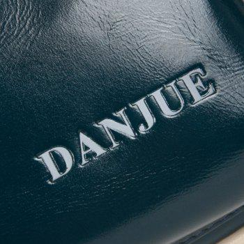 DANJUE Genuine Leather Men Waist Bag Waist Pack Passport Wallet Fanny Pack Money Belt Bag Phone Pouch Shoulder Bum Bag -  BLUE