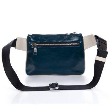 Guaranteed Real Genuine Leather Men'S Waist Packs Men Bags Travel Bags Belt Clutch Bag Satchel Cross Body Waist Bag - BLUE