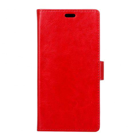 Housse de protection pour Huawei Honor 9 Lite Pure Crystal Crystal Texture cuir - Rouge Clair