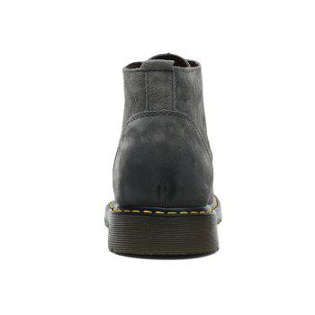 Men's Casual  Leather Soft Cowhide Retro Martin Boots - GRAY 44