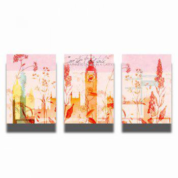 QiaoJiaHuaYuan No Frame Canvas Three Pieces of Painting Abstract Scenery Living Room Sofa Background Decoration Hanging - COLORMIX COLORMIX