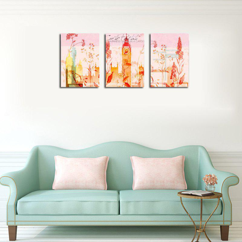 QiaoJiaHuaYuan No Frame Canvas Three Pieces of Painting Abstract Scenery Living Room Sofa Background Decoration Hanging - COLORMIX