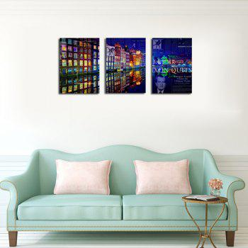 QiaoJiaHuaYuan No Frame Canvas Living Room Bedroom Background Abstract City Night View Decoration Print -  COLORMIX