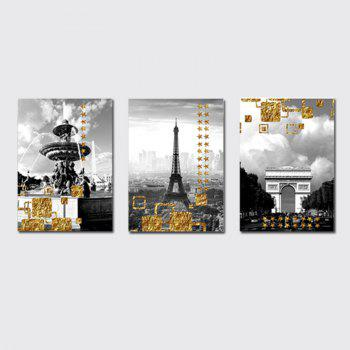 QiaoJiaHuaYuan No Frame Canvas Living Room Three Pieces of Sofa Background Decoration Hanging Painting Building Street V - COLORMIX COLORMIX