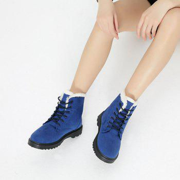 Women Fashion Outdoors Warm Snow Boots - BLUE 41