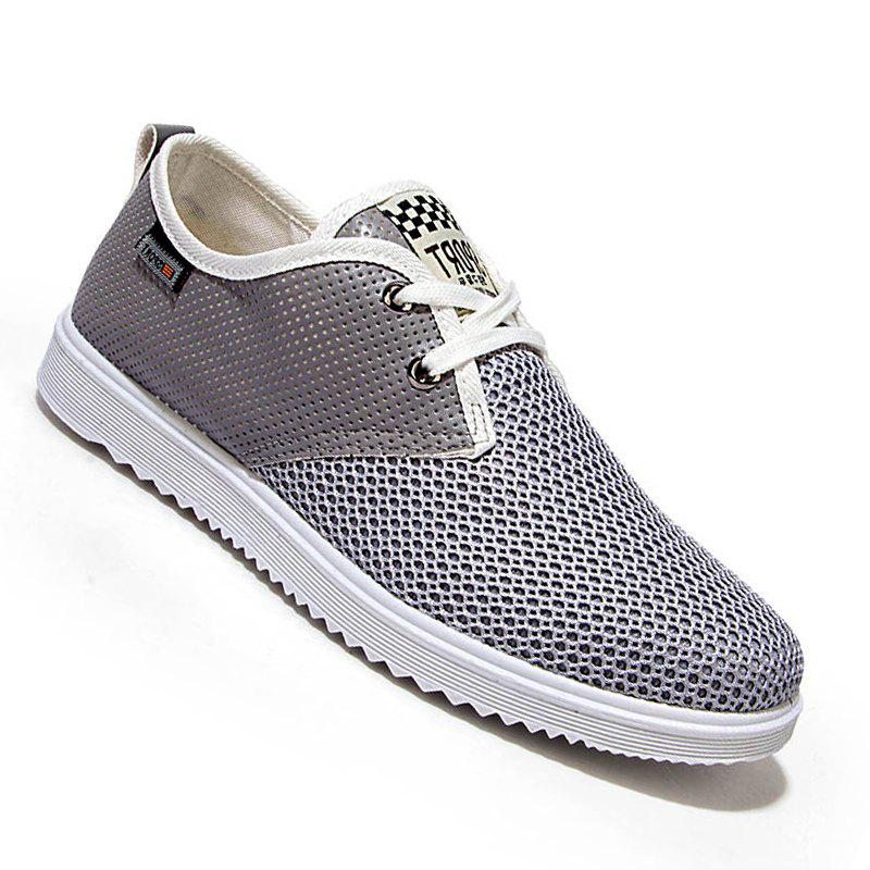 Men Casual Trend for Fashion Hiking Outdoor Sport Flat Mesh Breathable Shoes - GRAY 39
