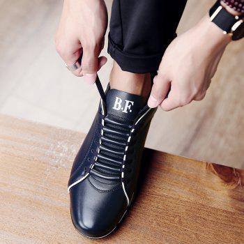 Men Casual Trend for Fashion Hiking Outdoor Sport Leather Spring Shoes - BLUE 40