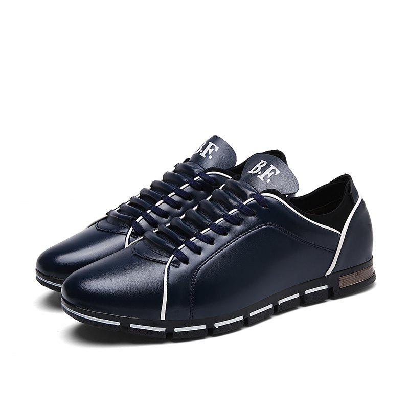 Men Casual Trend for Fashion Hiking Outdoor Sport Leather Spring Shoes - BLUE 42