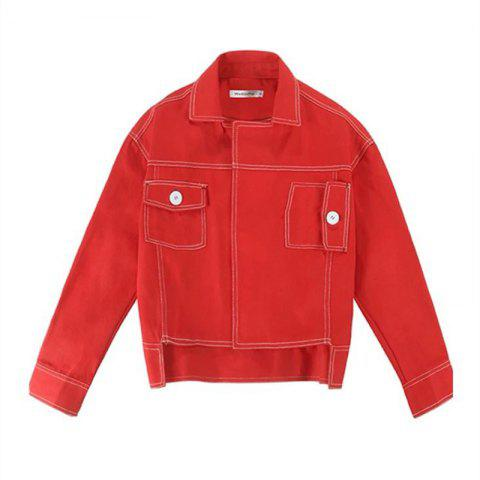 Lady's Red Jacket Baseball Jacket - RED S