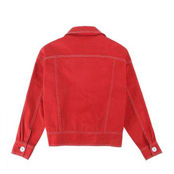 Lady's Red Jacket Baseball Jacket - RED L