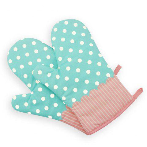 Mitt Baking Glove Heat Resistant Thick Silicon Kitchen Barbecue Oven Cooking Glove BBQ Grill Glove 1 Pcs - BLUE