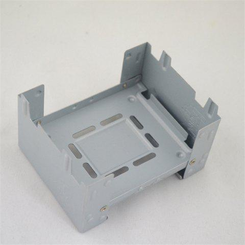 Folding Alcohol Outdoor Camping German Portable Travel Stove Galvanized Plate Wax Block Furnace - GRAY