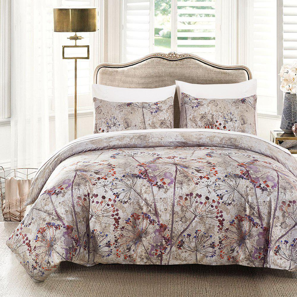 Printing Sanding Bedding Set in Vogue 02 - FLORAL QUEEN