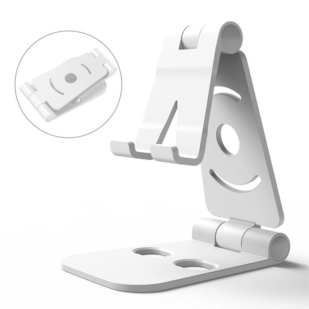 Dual Foldable Phone Stand Multi-Angle Cell Phone Tablet Stand for All Other Tablets Phones - SILVER