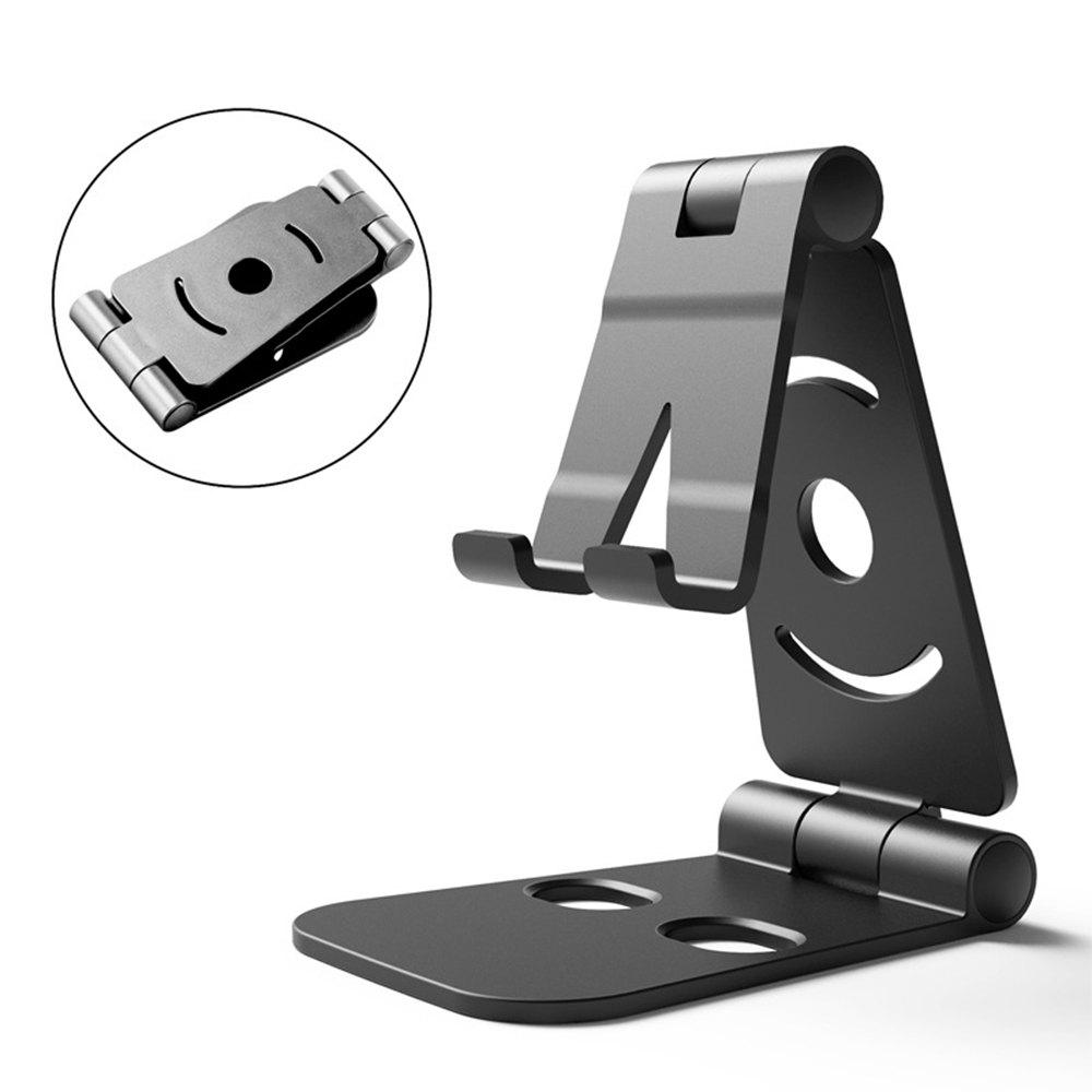 Dual Foldable Phone Stand Multi-Angle Cell Phone Tablet Stand for All Other Tablets Phones - BLACK