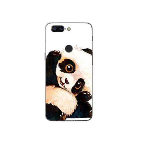 Cover Case For OnePlus 5T Fashion Printing Color Pattern Soft TPU Back Phone Case - BLACK WHITE