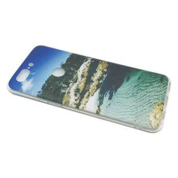 Cover Case For OnePlus 5T Fashion Printing Color Pattern Soft TPU Back Phone Case - BLUE/GREEN