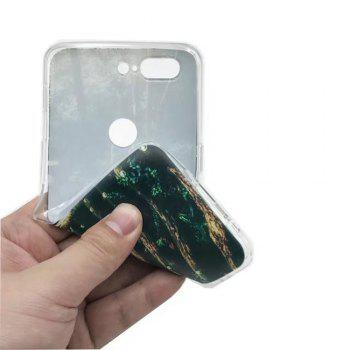 Cover Case For OnePlus 5T Fashion Printing Color Pattern Soft TPU Back Phone Case - GREEN / BROWN