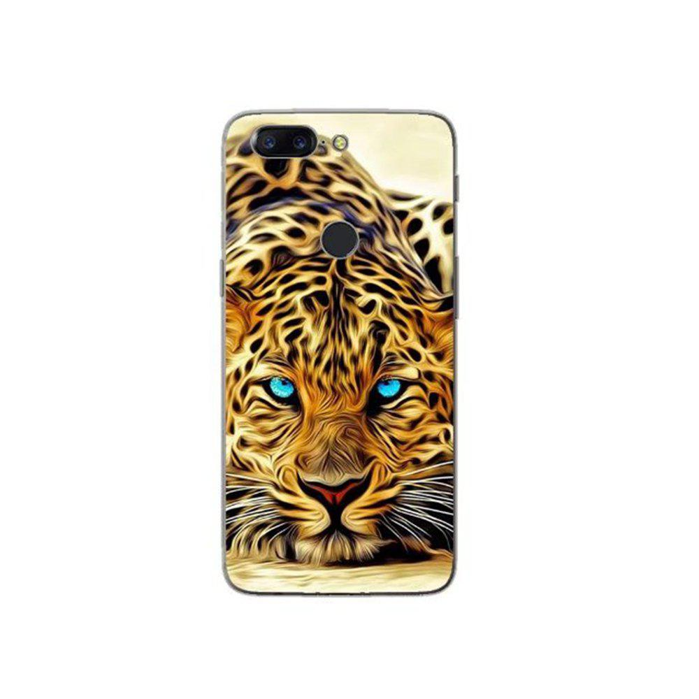 Cover Case For OnePlus 5T Fashion Printing Color Pattern Soft TPU Back Phone Case - YELLOW/BLACK
