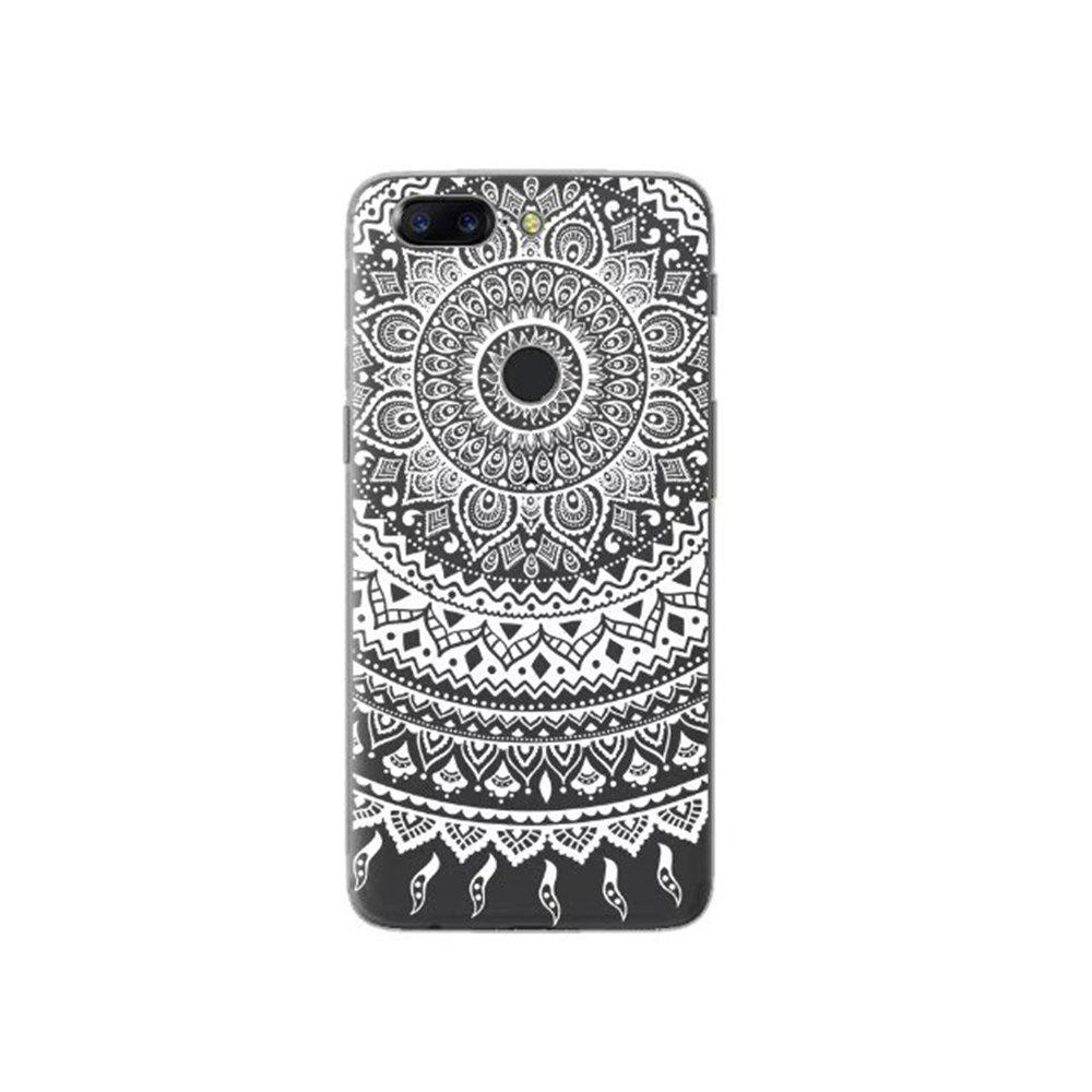 Cover Case For OnePlus 5T Fashion Printing Color Pattern Soft TPU Back Phone Case - WHITE