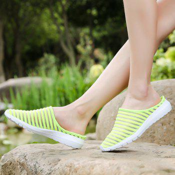 Fashion Mesh Slippers for Women - GREEN 40