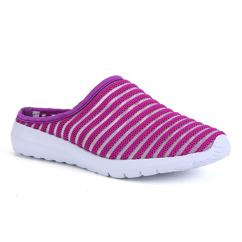 Fashion Mesh Slippers for Women - PURPLE 37