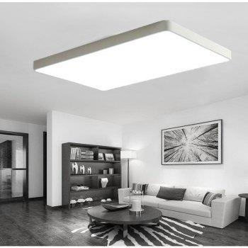 White Frame 48 Watts, Three Color Ultra Thin Led Ceiling Light 65 x 43 Cm 1 PC - WHITE