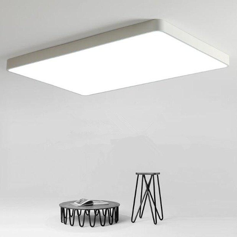 White Frame 48 Watts Super Thin Led Ceiling Light 65 x 43 Cm - WARM WHITE LIGHT